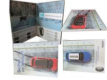 """A4 taille 4.3 """" LCD vidéo brochure pour cadeaux étonnants, Cadeaux d'affaires"""