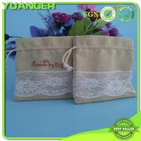 2014 Hot selling elegant natural color jute jewelry pouch