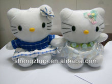 hot sale plush and stuffed cat and keychain