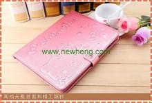 Hot selling custom Silk print flip leather case for iPad mini/1/2/3