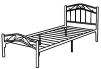 Twin bed Single bed , beds single prices, stainless steel bed frame