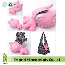 Rabbit Shape Lovely Promotional Shopping Folding Nylon Tote Bag