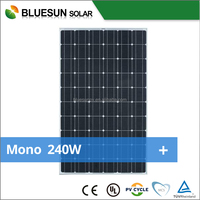 Full Certificates Best price per watt solar panels Mono solar panel 240W