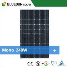 Full Certificates Best price per watt solar panels Mono solar panel 240W