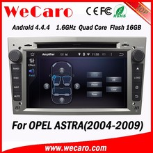 WECARO 2 Din USB LCD Screen Stereo Pure Android 4.4.4 Car Auto Radio for Opel Astra GTC 2004 - 2009