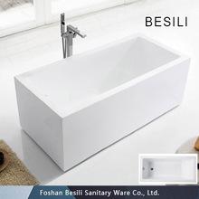 Freestanding Square standard acrylic bathtub size, bathtub price