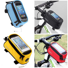 Hot Cycling Bicycle Frame Pannier Bike Front Tube Waterproof Saddle Bag Bicycle Bag for iPhone6 6plus 5S Samsung S3 S4 Note 3