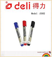Deli Refill ink Whiteboard Marker Whiteboard Marker pen dry erasable S502