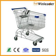 Metal Asian Shopping Cart,supermarket trolley made by Foshan Winleader