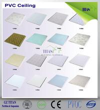 tablero de pvc falso techo de plástico