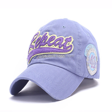 2015 new design 100% cotton embroidery promotional baseball cap