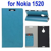 Wallet Style Leather Cover for Lumia 1520 Leather Case with Card Slots and Holder
