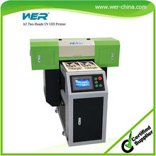 New technology A2 size two dx5 heads led uv label plastic printing machine price
