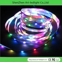 12v magic rgb led strip chasing light 5050 rgb TM1812 ic rgb led strips 8806 led strip