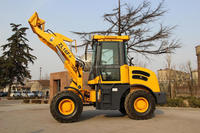 modern agricultural equipment chinese big cabin with wide vision small wheel loader with hydraulic joystick tractor well made