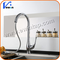 solid barss chrome plated pull down sink water faucet