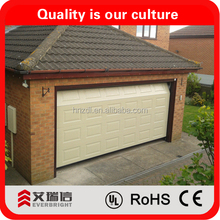 2015 New Design Remote Controlled Automatic Sectional High Quanlity Smart Overhead Sectional Automatic Garage Doors