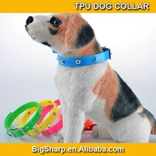 Cute metal rivet TPU dog collar & cat collar waterproof dog collar pet products high quality wholesale or retail sales promotion