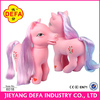 2015 chrismas gift my little pony rubber toy horse set dolls with music light