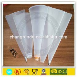 China Supplier FDA Reusable Cake Decorating Icing Piping Bag Silicone Pastry Bag