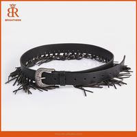 Hot ladies belt ladies belt models adies elastic dressy belt with rhinestone