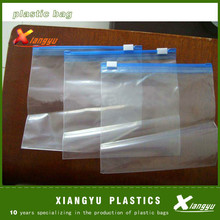 Standard export packing factory/ custom print slider zipper plastic bag