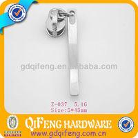 fashion shape nickle plated metal zip puller slider for bag z-037