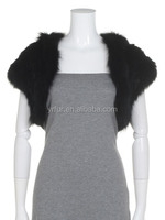 Fine knitted rabbit and fox fur vest/ silver color fur vest wholesale and retail