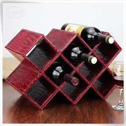 newest pu leather wine bottle carrier leather bottle carrier