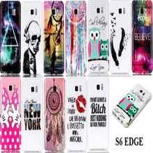 Fashion Soft TPU IMD For samsung Galaxy S6 edge S6edge SM-G9250 G925f Case Back Cover