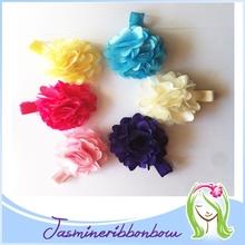 Children hair fashion clip,baby hair ribbon bow flower clip,solid hair accessory