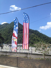 advertising banner feather flags with aluminum flagpole