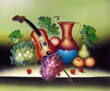 fruit basket oil painting on canvas 50*60cm home decor