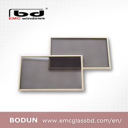 EMI Shielding Glass with Wire Mesh or ITO Conductive Coatings