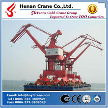 Four link rotating bearing ring mobile jib port crane price