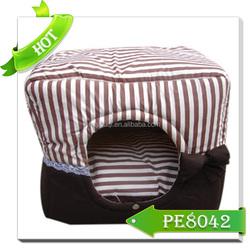 Pet Supplier solid shape stripe design soft pet house dog cages