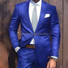 Wedding suits pictures blue men's blazer tailored male tuxedo woolen fashion man suits