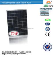 Poly 70w solar panel with CE/IEC/TUV/UL Certified