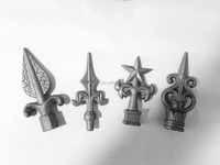 Cast iron fence pickets spear point