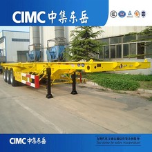 CIMC Low Price Skeleton Container Semi Trailer Shipping By Bulk Cargo Carrier