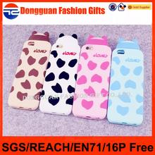 Protective silicone mobile phone case, brand logo case for cell phone, custom 3d silicone cell phone cover case