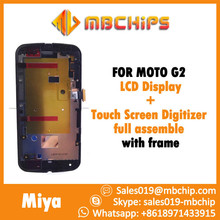 For MOTO G2 LCD Display+Touch Screen Digitizer full assemble with frame