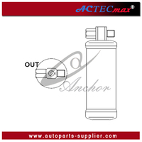 """INLET-3/8"""" MO OUTLET-3/8"""" FO HEIGHT-198mm DIAMETER-60mm SAAB 900 AC Receiver Drier Receiver Drier Filter"""