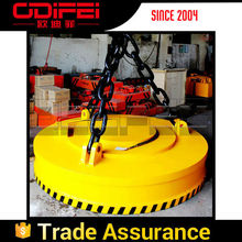 Activated and Deactivated Lifter Crane Circular Magnetic Chucks
