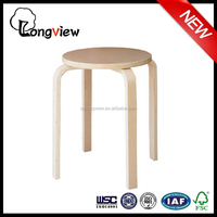 Simple Design Stacking Wooden Round Piano Stool