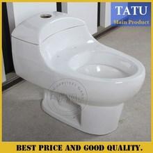 Bathroom ceramic one piece toilet bowl with white