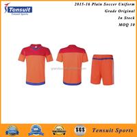 Custom football team plain 100% polyester soccer sportswear
