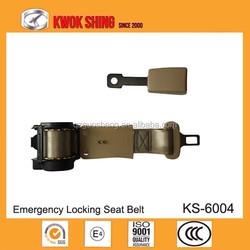 Auto parts china manufacturer wholesaler seat belt with retractor | 2 points retractor seat belt | Simple belts