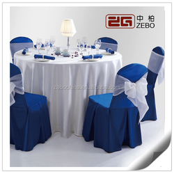 100% Polyester Customized Decoration Chair Covers and Table Cloth for Sale