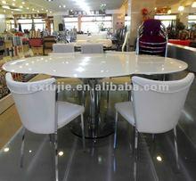 Fabulous Glass Folding Table L819 Flower Shape MOQ 5pcs